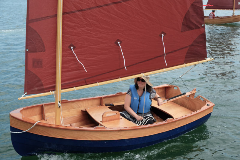 "While the Tenderly is well suited for solo sailing, the CLC web site notes it has ""plenty of sprawling room for two adults or a bunch of kids"" while under sail."