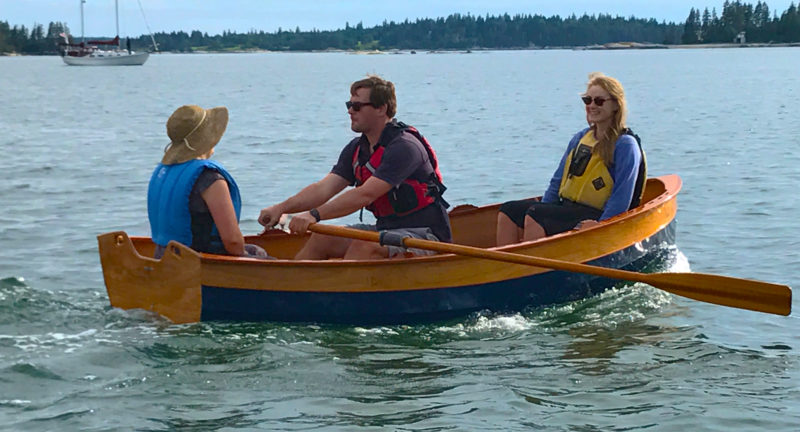 With a capacity of 425 lbs, the Tenderly can take three on board and still maintain good freeboard for rowing.