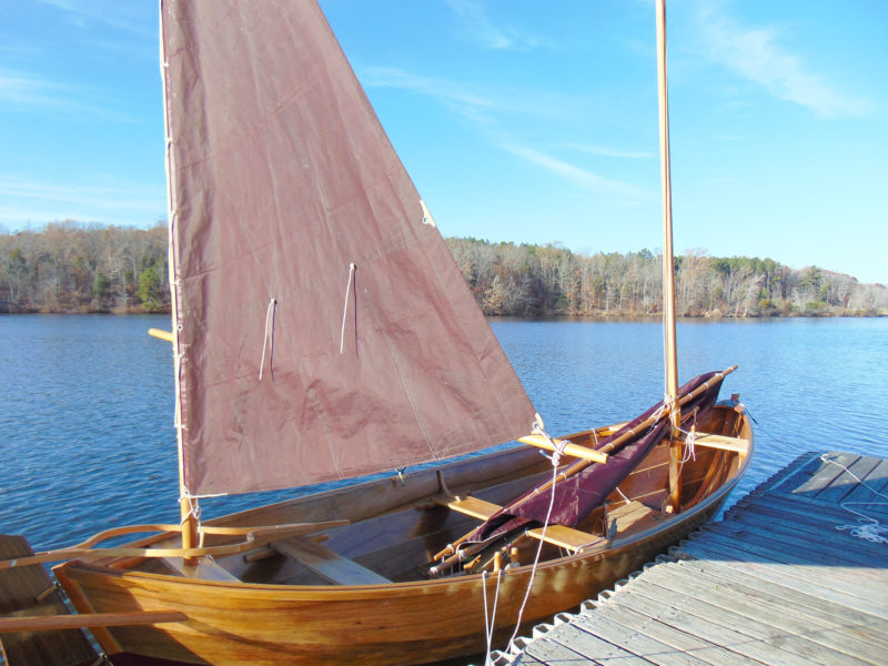 Scotty has two cat-rigged boats and two sloop-rigged boats, but the Caledonia's lug rig with the mizzen is his favorite by far.