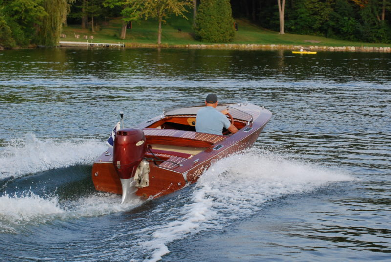 With a 45-hp outboard on the transom, the Zip gets on plane quickly.
