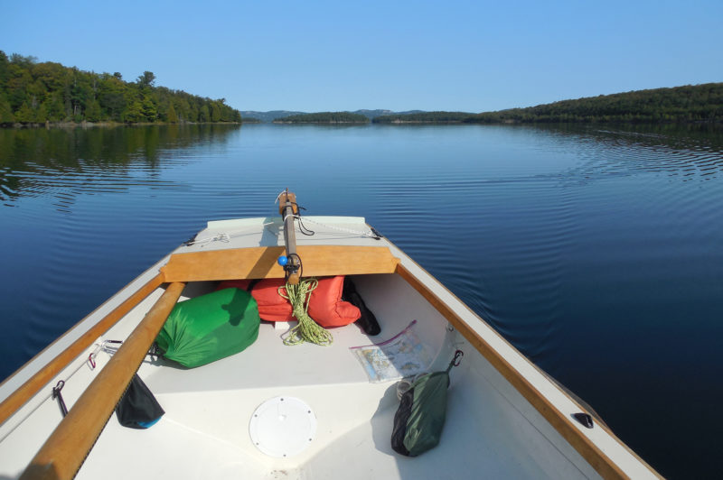 Rowing past Great La Cloche Island on a typically calm North Channel morning, I covered more than 10 miles under oars before the wind came up. I was pleased to find my new Alaska as well-suited for the task as I had expected.