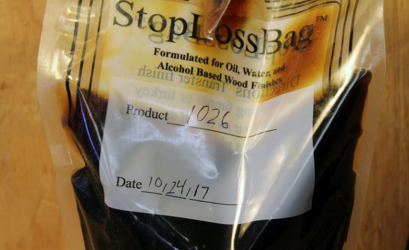 One side of the bag has a space for identifying what is in the bag and when it was poured. Alcohol will remove the permanent marker when the bag is reused and requires new information.