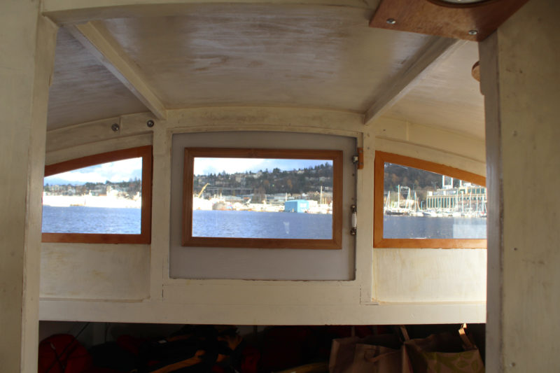 The view forward was improved by the addition of three large windows.
