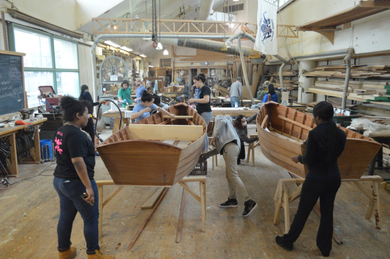 The Museum's Workshop on the Water provides students not only with tools, materials, and instruction, but also a real-worked application to their classroom studies.