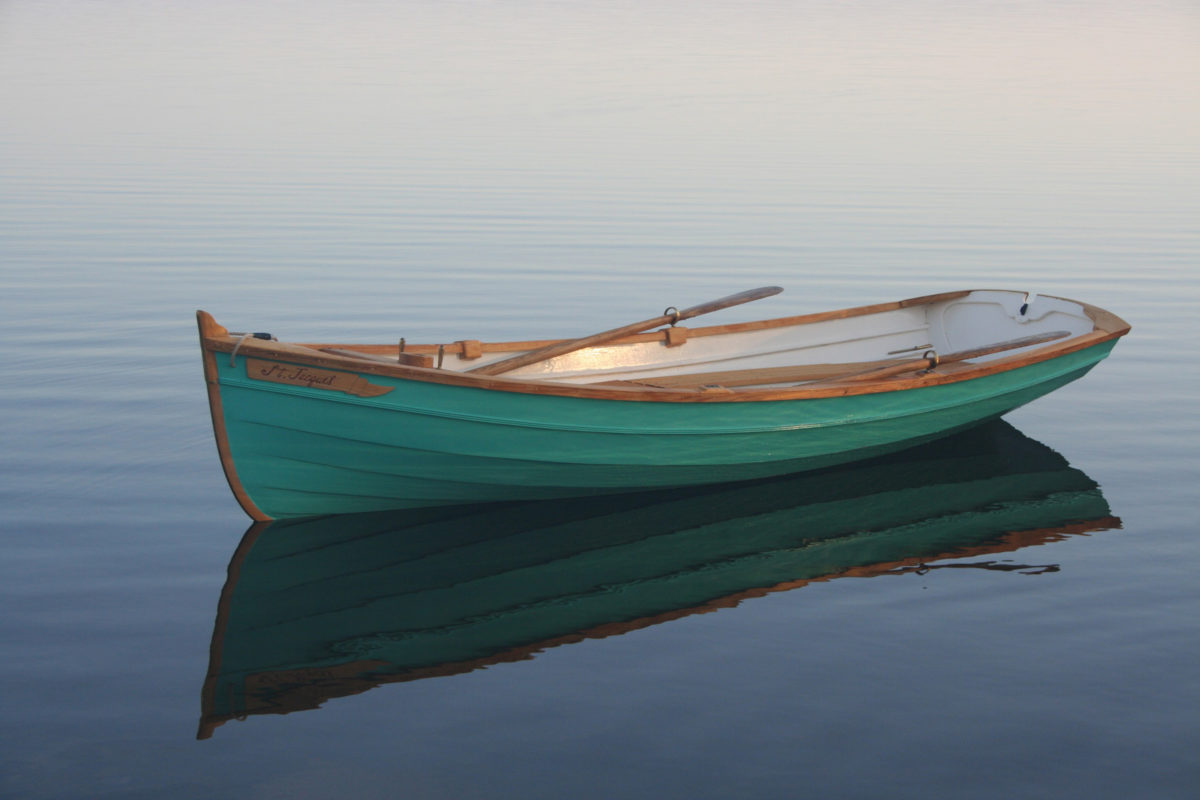 There's a notch in the transom for those who have a knack for sculling, and, if motoring appeals, the plans included instructions for equipping the boat with a small outboard of 2 to 3 hp.