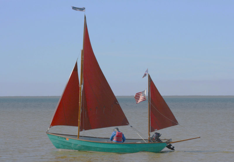 The authors' Lugger, ONKAHYE (Seminole for Dancing Feather), was built in 1980 by Honnor Marine in Devon, England, and imported to Texas in 1982.