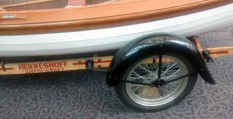 The motorcycle wheels and fenders gave the trailer a classy look.