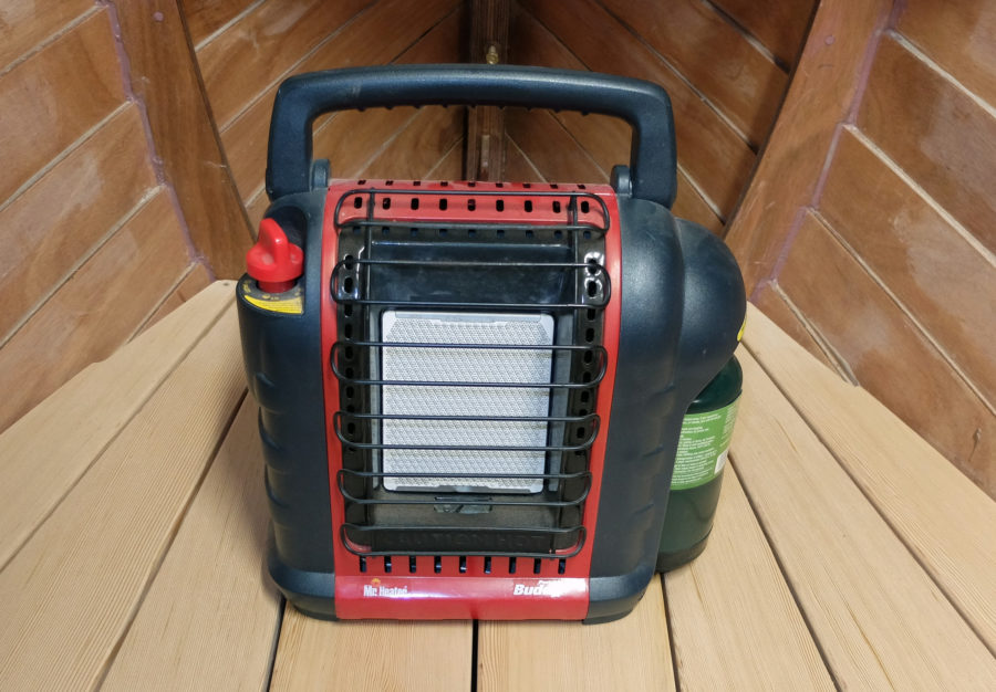 The Buddy Heater will shut itself off if its sensor detects a drop in oxygen levels or if it tips over.