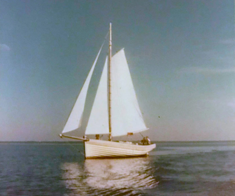 BOGLE went down the Mississippi River and sailed in Gulf bluewater for a few days and ended up in Gulf Shores, Alabama. A few months later Dad sold her and we went to live in Mystic, Connecticut. She was owned by a dentist for many years until he got too old to sail anymore. In the mid 1990s, he called Dad to tell him how much the boat had meant to him and wasn't able to keep from was crying a bit. I don't know where BOGLE is now.