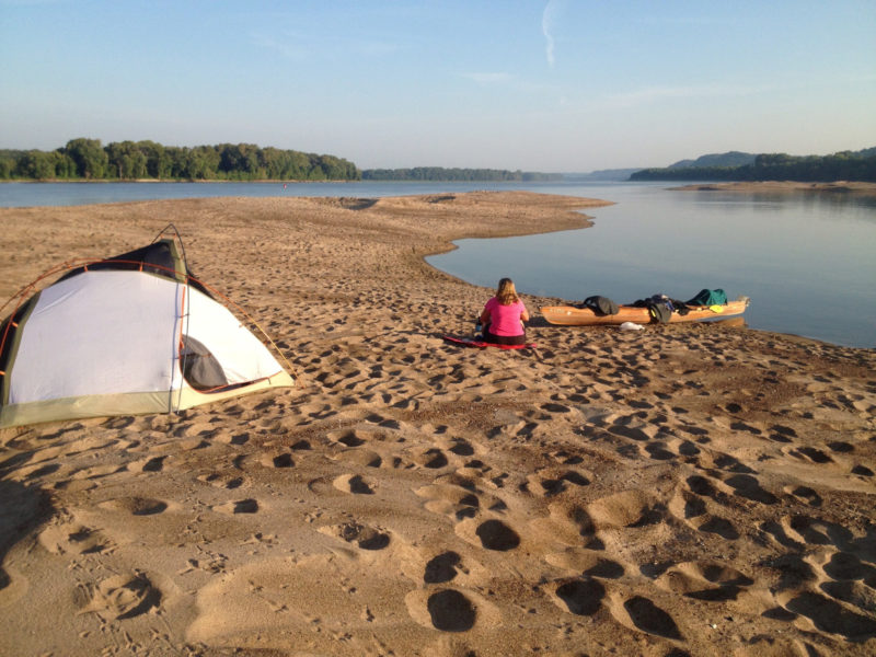 Sand islands in the rivers provided lovely, free, solitary campsites.