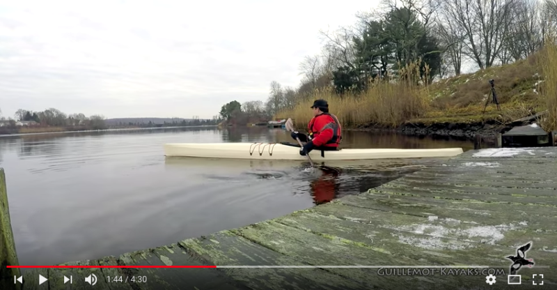 Nick launches his skin-on-frame kayak