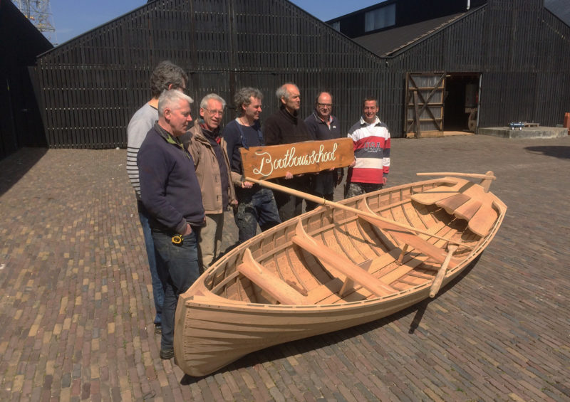 A group of students at De Bootbouwschool in the Netherlands built the schools 114th boat—its seventh Catherine.