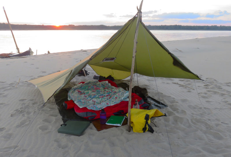 The HouseFly can also provide shelter for the sun for camping on a beach.