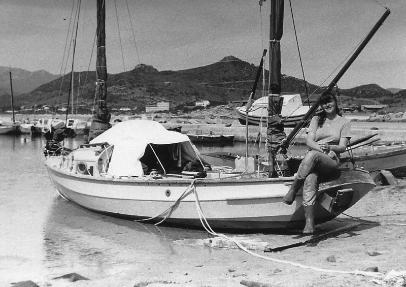 Elly joined Peter at Villasimius, a coastal village on the south end of Sardinia. 1981