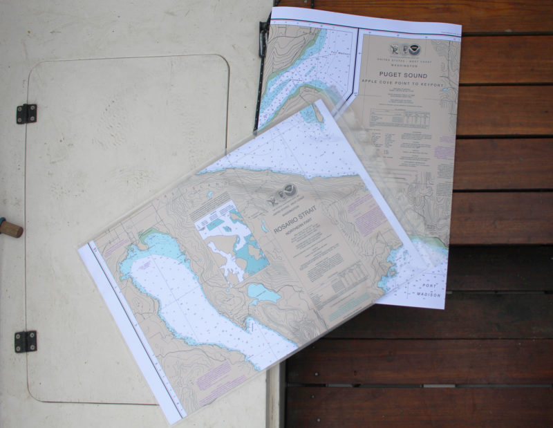 The Small Craft version comes folded to fit a waterproof chart case.
