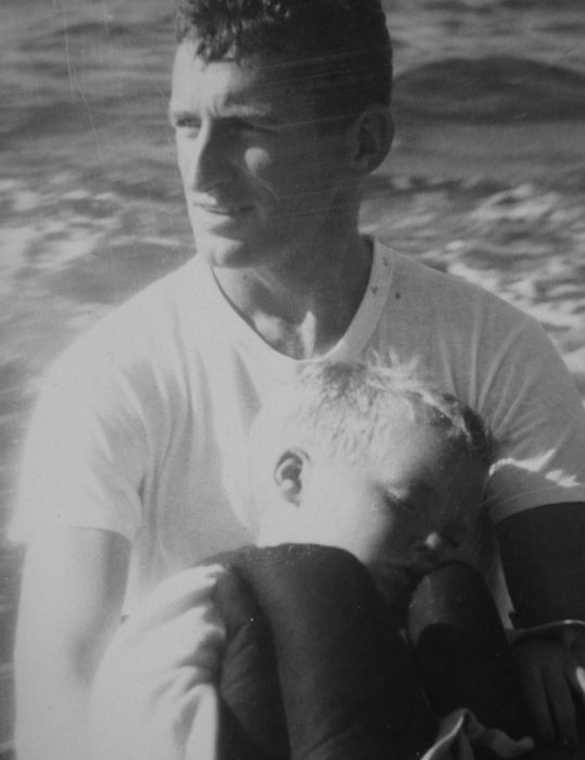 With my father aboard MOLLY MAY, circa 1956