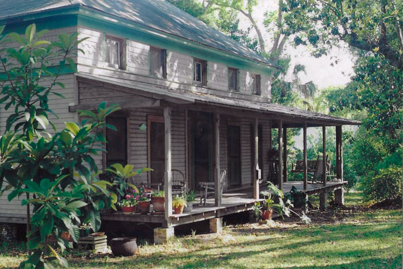 The house in Apalachicola was surrounded by big live-oak trees. Mom and Dad could not resist buying it and the voyage was officially over when they did.