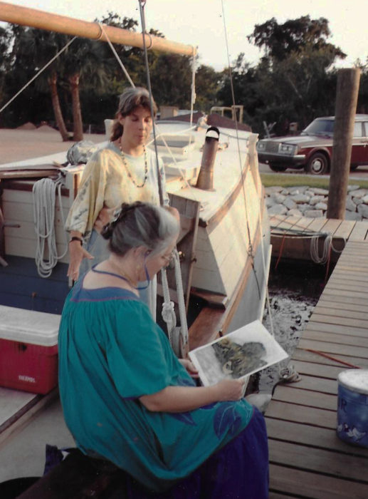 During our stay in Apalachicola, Mom passed the time with her watercolors. The owner of a local gallery took an interest in some of her artwork inspired by our voyage.
