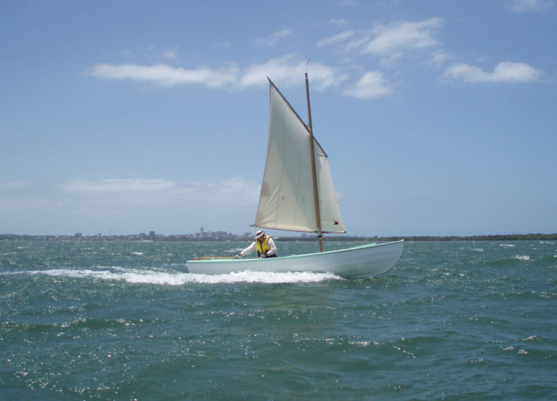 In a fresh breeze, with the mizzen set in the middle partner, the Periwinkle made a GPS-measured 7 knots.
