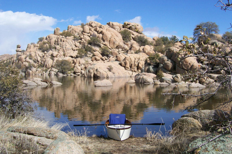 Tom took the first nester to the Southwest and used it to explore the Granite Dells made boat-accessible by the reservoir waters of Arizona's Watson Lake.