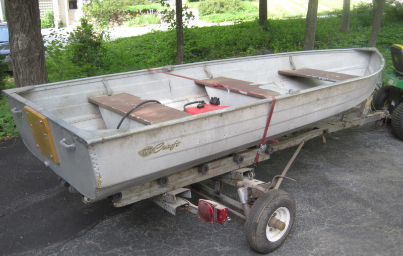 The old aluminum boat wasn't much to look at but still had plenty of life left in it.