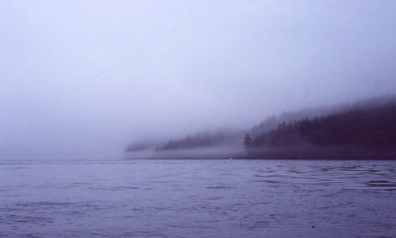 When I left Swanson Island I made crossings only when I could see the island I was heading for.