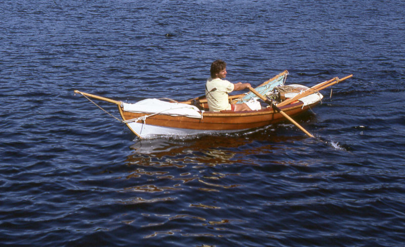 Despite all of the time and effort I devoted to GAMINE's sailing rig, I'd spend most of my time rowing.