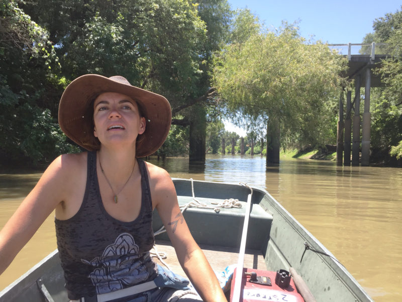 With our aluminum johnboat, Benzy and I could leave the shantyboat on the river and make quick explorations of out-of-the way backwaters.