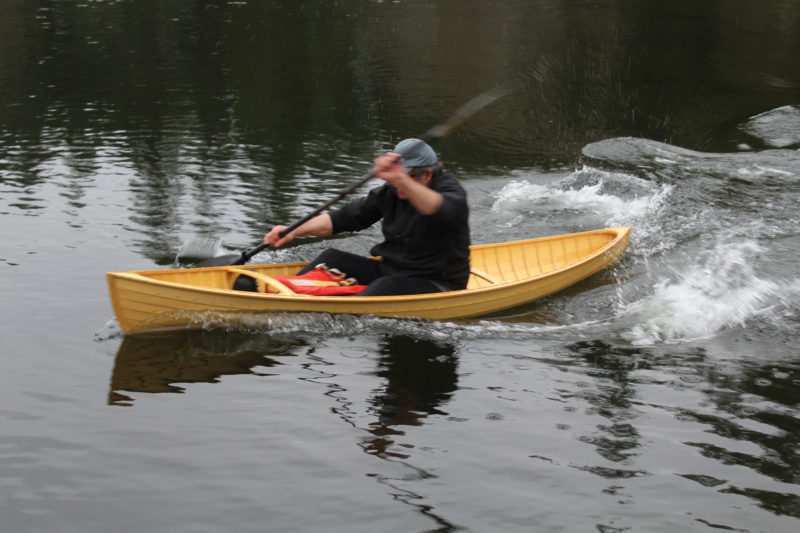 While speed isn't going to be a strong point for any canoe under 11' long, the Stickleback can move smartly, track well, and maintain its stability when pushed hard.