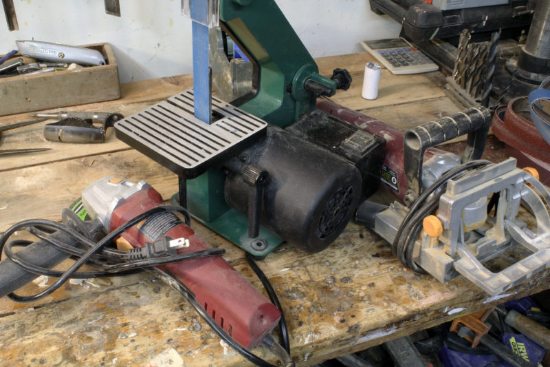 For my grinder, belt sander, and biscuit plate jointer I paid a total of just $106.