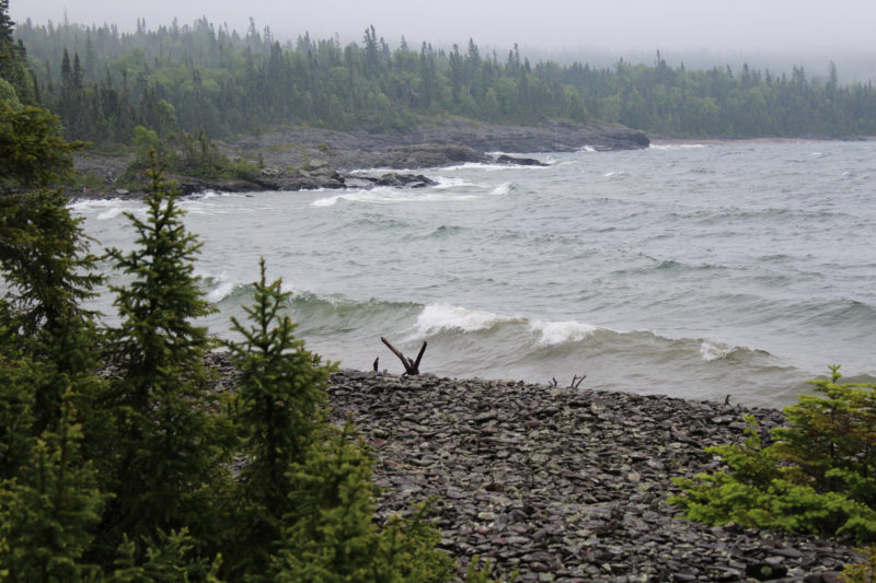 Superior was showing her wild side while we weathered a fantastic storm on Simpson Island.