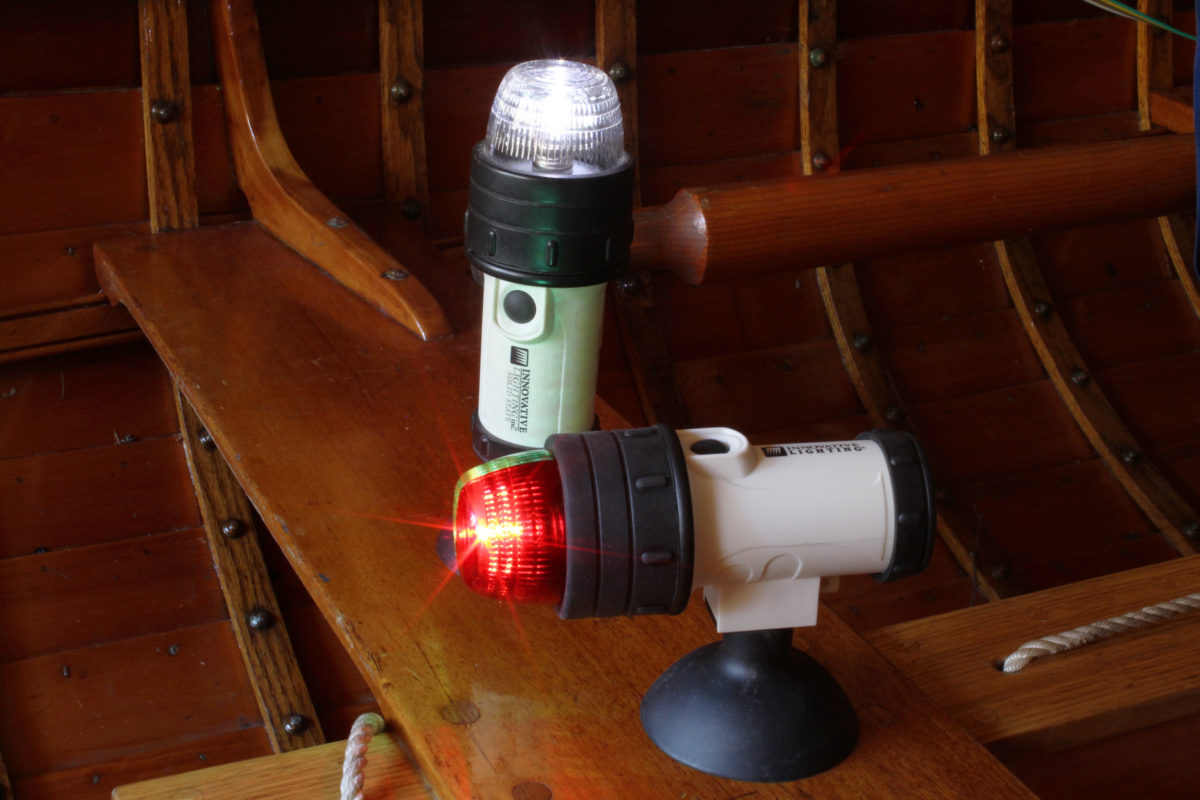 The lights come with either suction cups, as seen here, or with clamps.