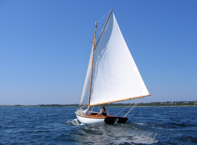Carl took pride in CHIPS's connection to her Block Island birthplace and had her sails made by an island sailmaker.