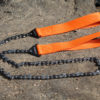 The LivWild saw has teeth on every link and highly visible straps.