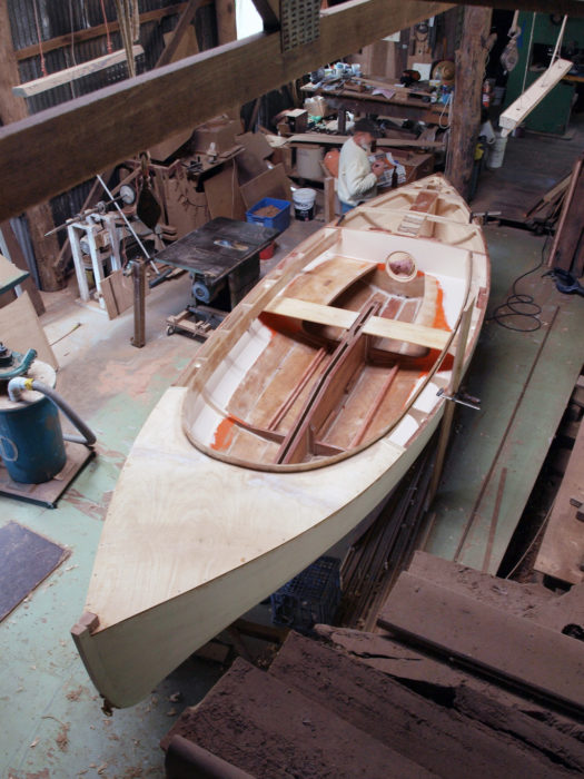 The Jim took shape in the back of the main shed.