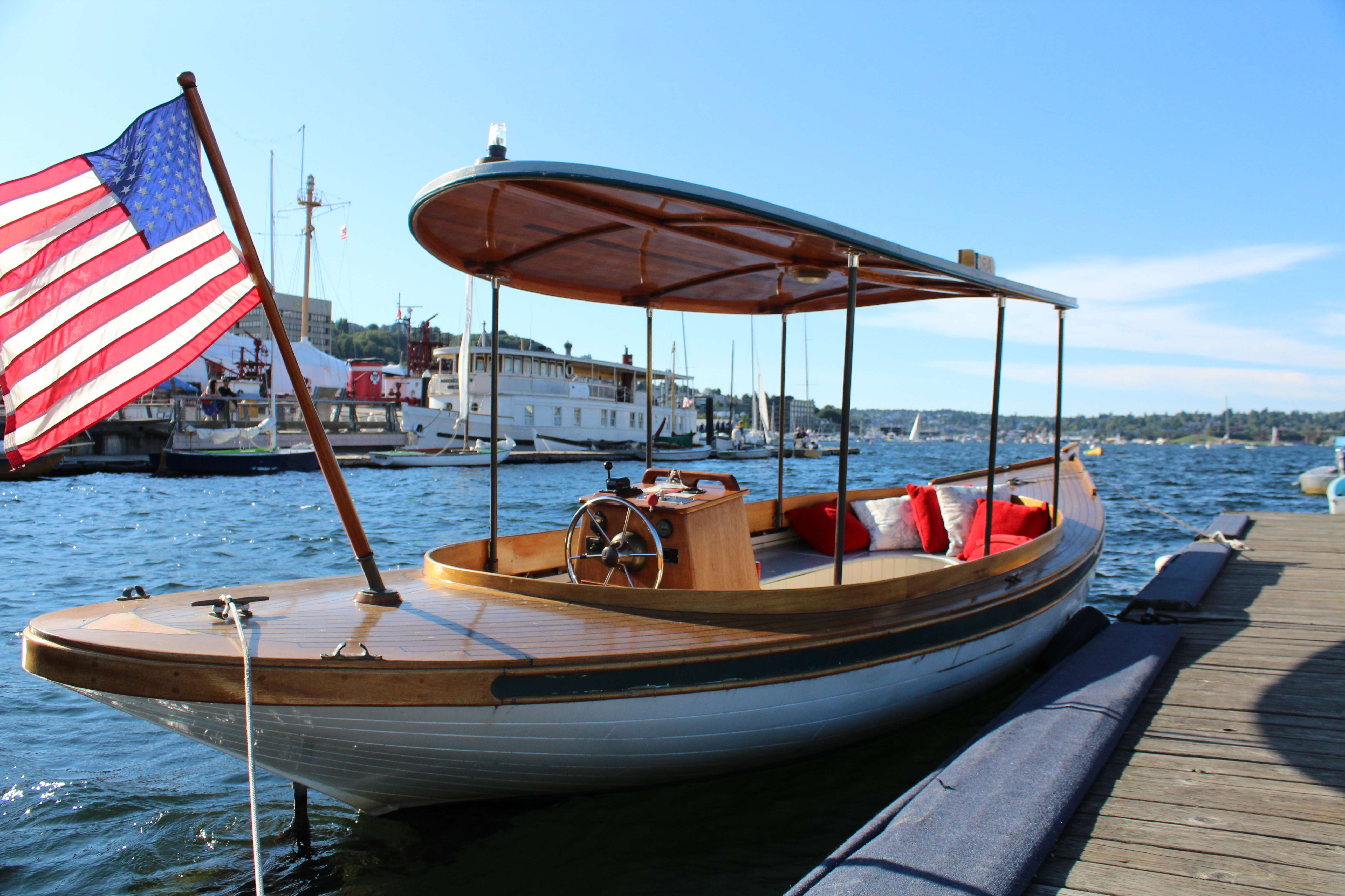 Electric Fantail Launch Dora Available For Charter At The