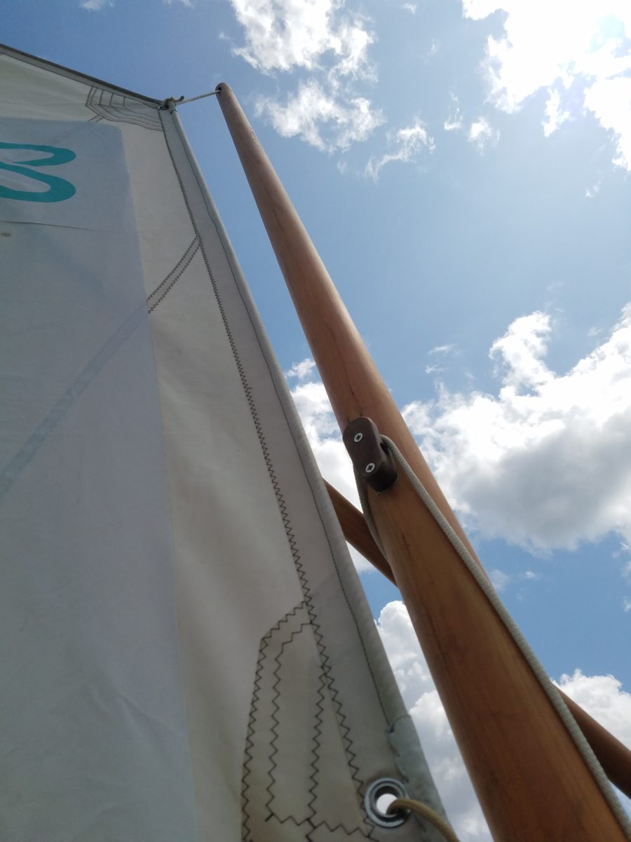 Finn and Tereza finally have enough wind to put up their sails