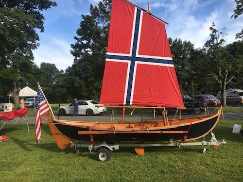 Elfyn with Norwegian sail