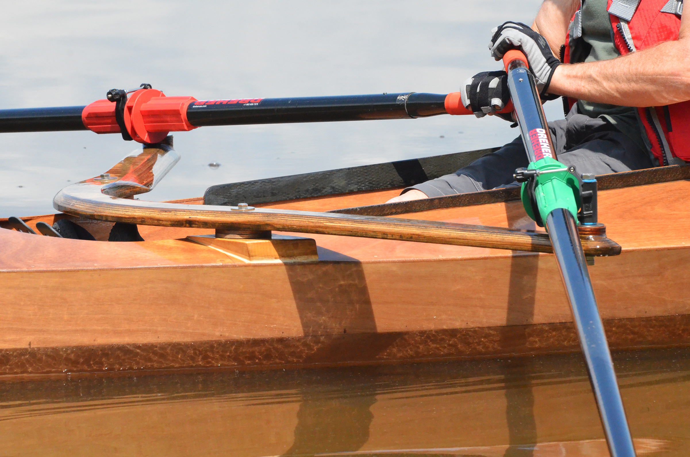Closeup of oars on the Expedition